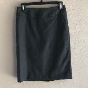 Ann Taylor Loft pinstriped pencil skirt